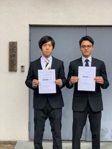 JCREN_受賞者の板村成さん(左)と野村和伸さん(右)